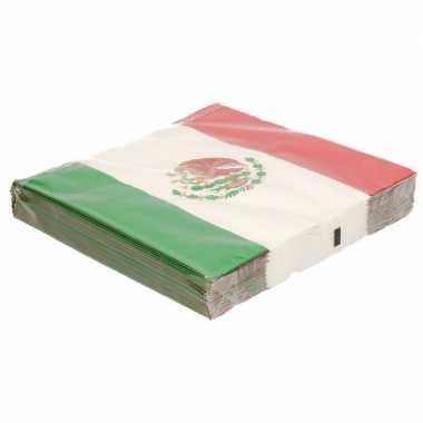 Mexicaanse vlag servetten 60 stuks