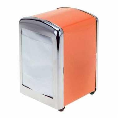 Oranje servettendispenser 14 cm kopen
