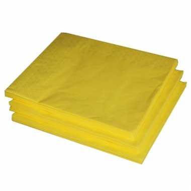 Paas servetten geel 25 stuks kopen