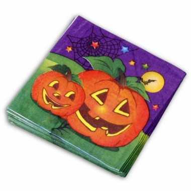 Papieren Halloween servetten 20 stuks kopen