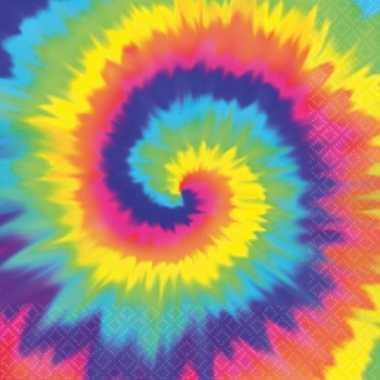Papieren hippie servetjes 16 stuks kopen