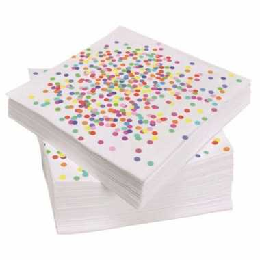 Papieren servetten confetti 20 stuks