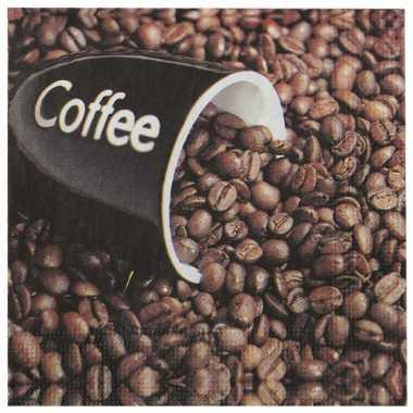 Papieren servetten koffie 20 stuks kopen
