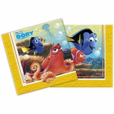 Papieren servetten van Finding Dory 20 stuks kopen