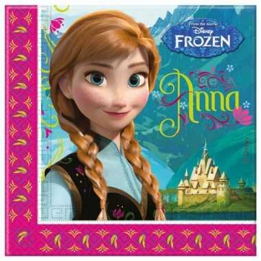 Papieren servetten van Frozen 20 stuks kopen