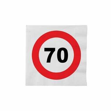 Papieren stopbord servetten 70 jaar kopen