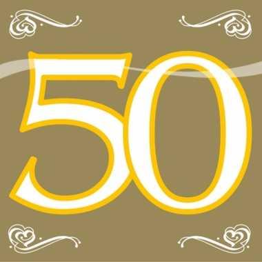 Party gouden servetten 50 jaar kopen