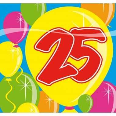 Party servetten 25 jaar