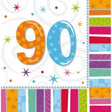 Party servetten 90 jaar