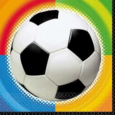 Party voetbal servetten 25 cm kopen