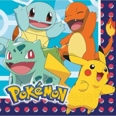 Pokemon thema lunchservetten 16 stuks kopen