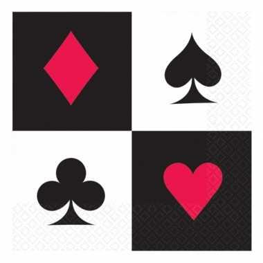 Poker servetten 16 stuks