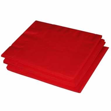 Rode servetten 40 stuks kopen