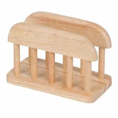 Servethouder/standaard van hout 15 cm kopen