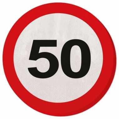 Servetjes 50 jaar verkeersbord
