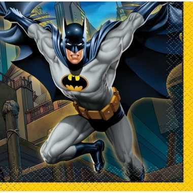 Servetjes batman thema 16 stuks kopen