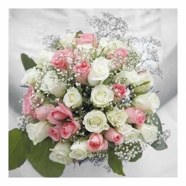 Servetten bruiloft boeket 3-laags 20 stuks kopen