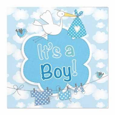 Servetten geboorte jongen 20 stuks kopen