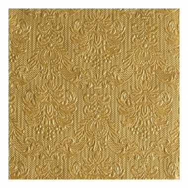 Servetten gouden barok 3-laags 15 stuks kopen