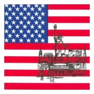 Servetten met Amerikaanse vlag kopen