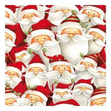 Servetten met kerstmannen print 33x33 cm kopen