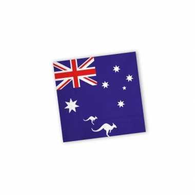 Servetten met vlag van Australie 20x kopen