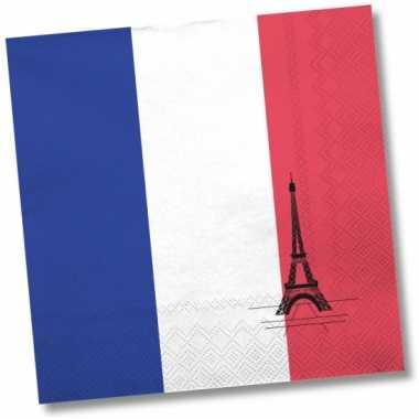 Servetten met vlag van Frankrijk 20x kopen