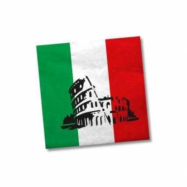 Servetten met vlag van Italie 20x kopen