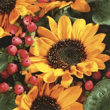 Servetten met zonnebloemen kopen