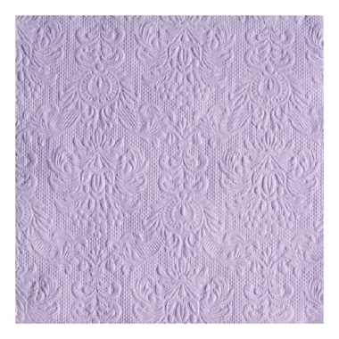 Servetten paarse barok 3-laags 15 stuks kopen