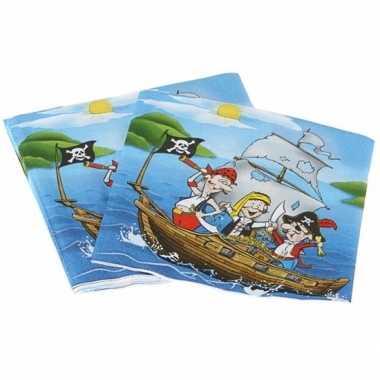Servetten piraten eiland 16 cm kopen