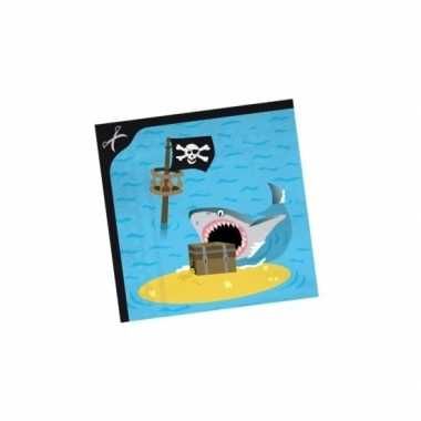 Servetten piraten eiland 33 cm kopen