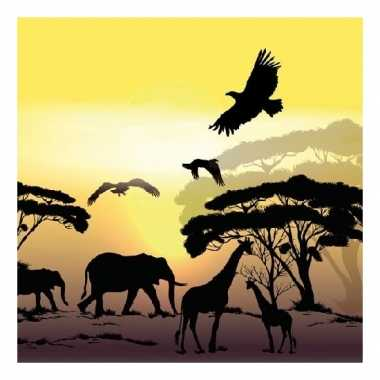 Servetten safari jungle thema print 3 laags 20 stuks
