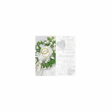 Servetten trouwringen 33 cm kopen
