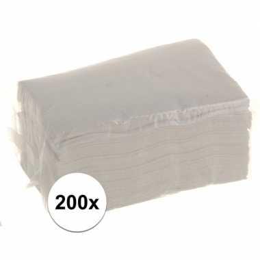 Servetten voor servettendispenser 200 stuks kopen
