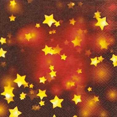 Sjieke kerst servetten met sterren kopen