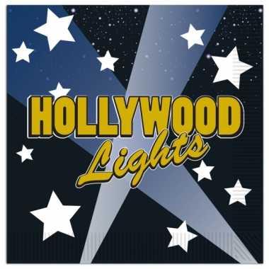 Thema servetten Hollywood16 stuks kopen
