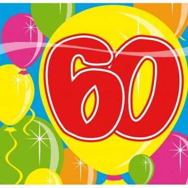 Verjaardag servetten 60 jaar kopen