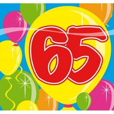 Verjaardags servetten 65 jaar kopen
