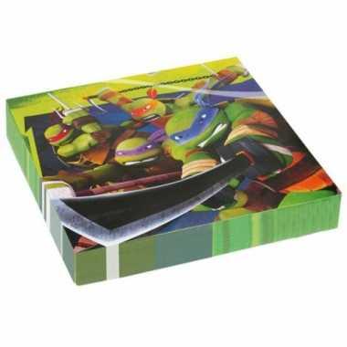 Verjaardagspartijtje Ninja Turtle servetten kopen