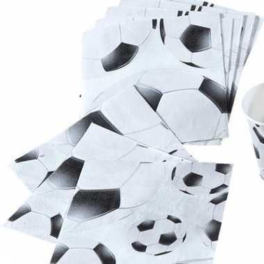 Voetbal servetjes 20 stuks kopen