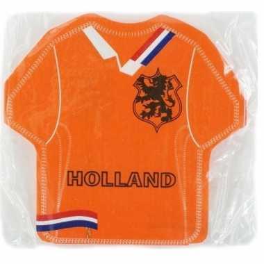 Voetbal shirt servetten oranje kopen