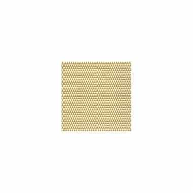 Wegwerp servetten driehoek goud/wit kopen