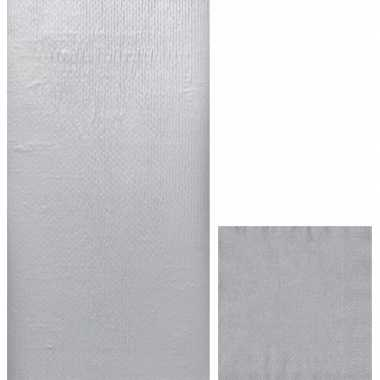 Zilver thema feest servetjes en tafellakens/tafelkleden kopen