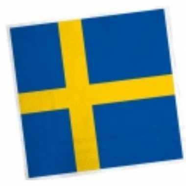 Zweedse vlag servetten 20 stuks kopen