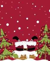 120x kerst servetten rood met kerstman 33 x 33 cm