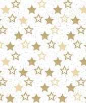 120x papieren servetjes met gouden sterretjes 33 x 33 cm