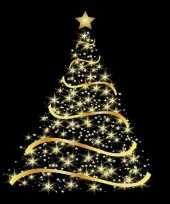 160x papieren servetjes met gouden kerstboom 33 x 33 cm