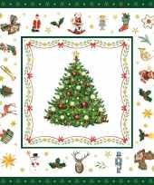 160x papieren servetjes met kerst figuren 33 x 33 cm