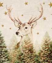 160x papieren servetjes met rendier voor kerstmis 33 x 33 cm